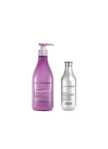 L'oreal Professionnel Loreal Serie Expert Silver Krem 100 Ml+Lumino Contrast Röfleli Saç Şampuanı 500 Ml Renksiz